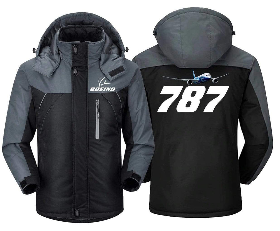 MA1 Windbreaker Jackets Black Gray / XS Boeing-787