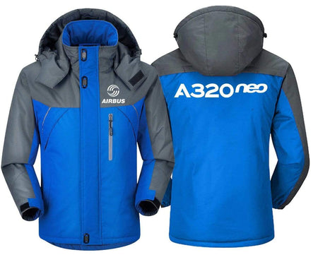 MA1 Windbreaker Jackets Blue Gray / XS Airbus -A320 neo