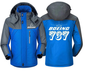 MA1 Windbreaker Jackets Blue Gray / XS Boeing- 737