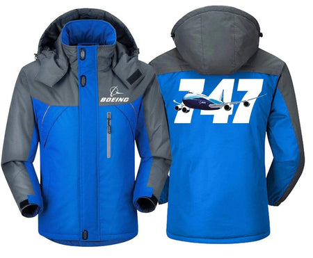 MA1 Windbreaker Jackets Blue Gray / XS Boeing -747
