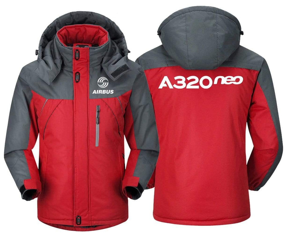MA1 Windbreaker Jackets Red Gray / XS Airbus -A320 neo