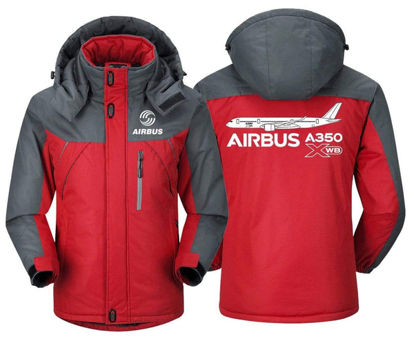 MA1 Windbreaker Jackets Blue Gray / XS Airbus A350 XBW