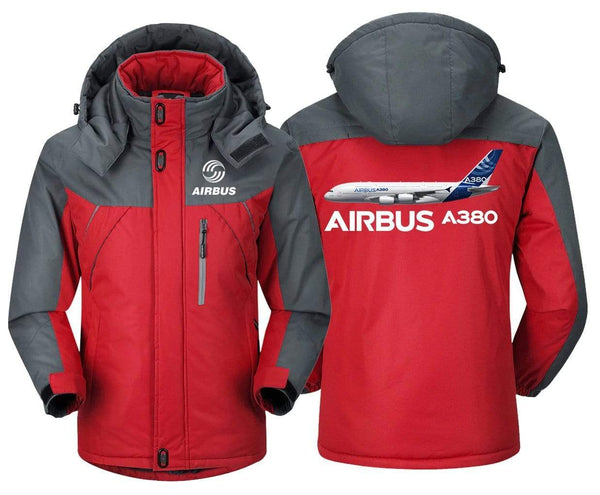 MA1 Windbreaker Jackets Blue Gray / XS Airbus A380
