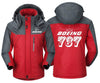 MA1 Windbreaker Jackets Red Gray / XS Boeing- 737