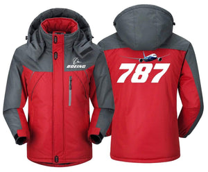 MA1 Windbreaker Jackets Red Gray / XS Boeing-787