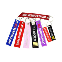 PILOTSX 1 piece KISS ME BEFORE FLIGHT KeyChain aviation gift