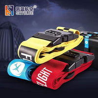 PILOTSX 1PCS Personality Packing Tape with Password Buckle Luggage Strap