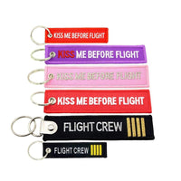 PILOTSX 1piece Aviation gift KeyChain KISS ME BEFORE FLIGHT Key