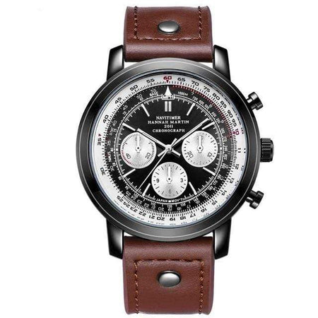 PILOTSX 2002LN Waterproof Leather Pilot Watches