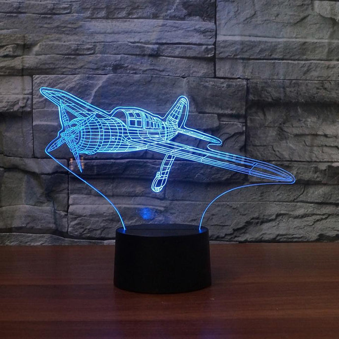 PILOTSX 3D USB Fix-Wing Aircraft Table Lamp