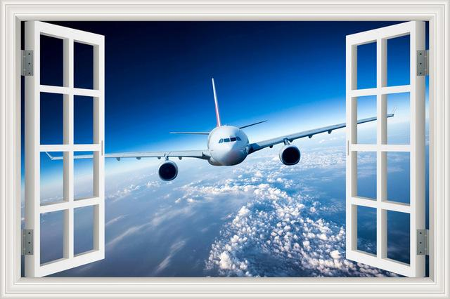 PILOTSX 40x60cm 16x24inch Airplane 3D Wall Sticker