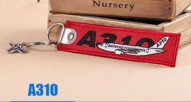 PILOTSX A310 Creative Airbus Tag with Small Metal Plane Red Luggage Bag Tag