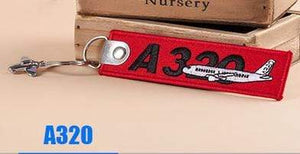 PILOTSX A320 Creative Airbus Tag with Small Metal Plane Red Luggage Bag Tag