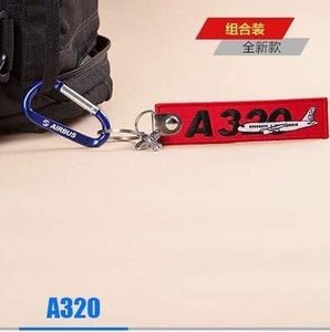 PILOTSX A320 Package Creative Airbus Tag with Small Metal Plane Red Luggage Bag Tag