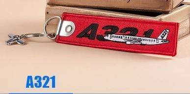 PILOTSX A321 Creative Airbus Tag with Small Metal Plane Red Luggage Bag Tag