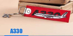 PILOTSX A330 Creative Airbus Tag with Small Metal Plane Red Luggage Bag Tag