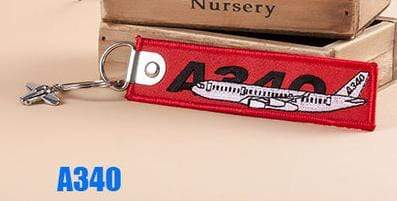 PILOTSX A340 Creative Airbus Tag with Small Metal Plane Red Luggage Bag Tag