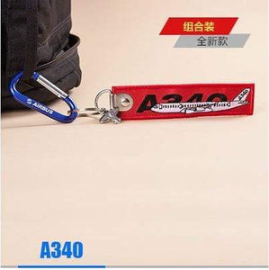 PILOTSX A340 Package Creative Airbus Tag with Small Metal Plane Red Luggage Bag Tag