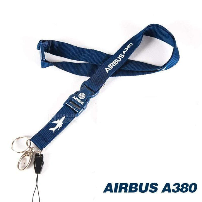 PILOTSX Airbus 380 Lanyard with Metal Buckle