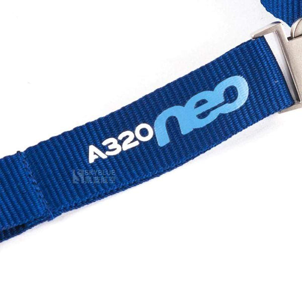 PILOTSX Airbus A320neo Lanyard with Metal Buckle Blue Ribbon Rope