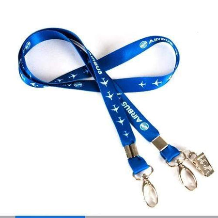 PILOTSX Airbus Lanyard, Blue Ribbon Rope Sling Simple Design for ID Case Holder