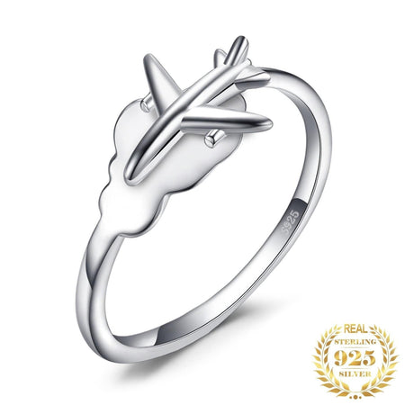 PILOTSX Airplane Ring 925 Sterling Silver