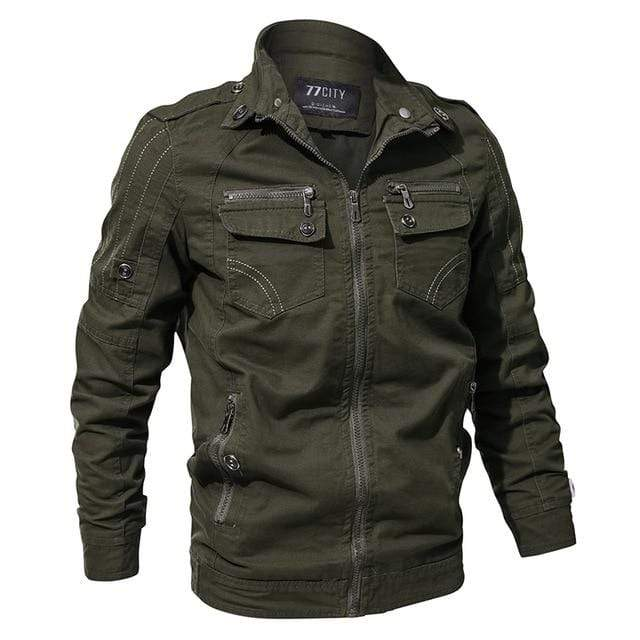 PILOTSX Army Green / M Autumn Cotton Bomber Jackets