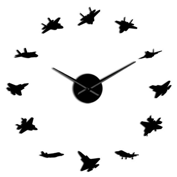 PILOTSX Black / 47 Inch 12 War Plane Military Wall Art Aircraft