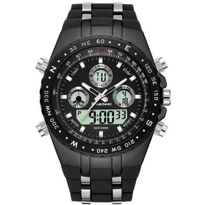 PILOTSX Black Men Military Waterproof Watches