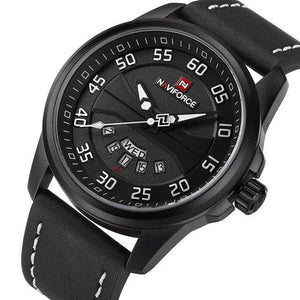 PILOTSX Black White NAVIFORCE Men Fashion Casual Watches