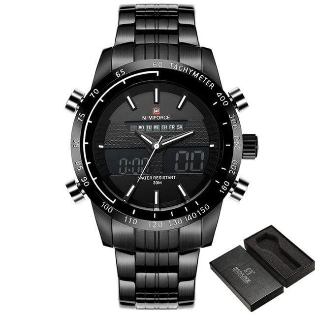 PILOTSX Black White NAVIFORCE Men Fashion Sport Watches