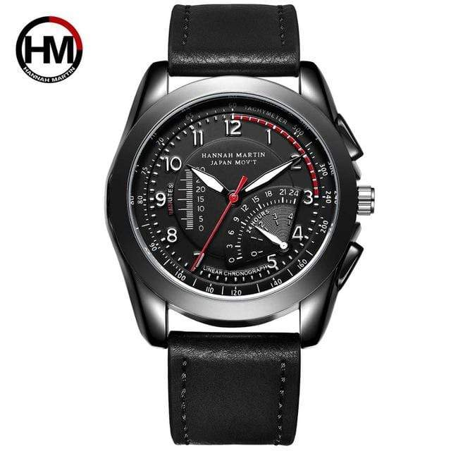 PILOTSX BN02-BH Movement Waterproof Leather Watches