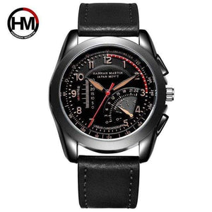 PILOTSX BN02-KH Movement Waterproof Leather Watches