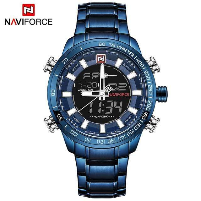 PILOTSX Bule NAVIFORCE Luxury Brand Men Military Watches
