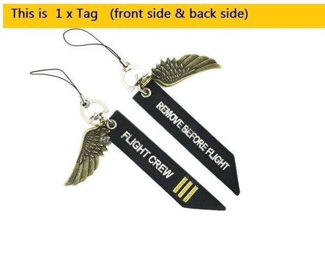 PILOTSX co-pilot ( 1 pcs) Bag Tag Travel Tag with Metal Wing