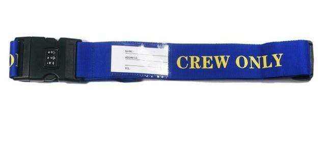 PILOTSX crew only 1PCS Personality Packing Tape with Password Buckle Luggage Strap