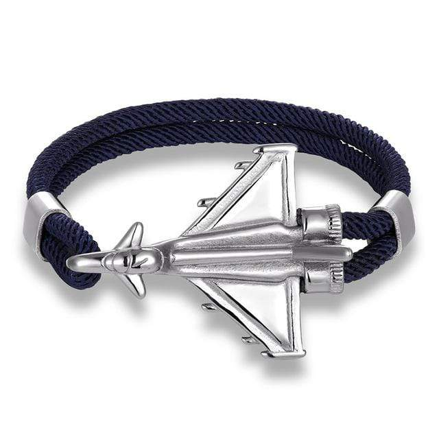 PILOTSX Dark Blue D / 23cm Stainless Steel Jet Fighter Bracelets