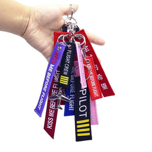 PILOTSX FLIGHT CREW Key Chains 12in1/Set kiss me before flight KeyChain