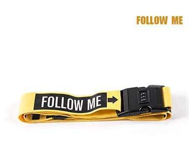 PILOTSX follow me 1PCS Personality Packing Tape with Password Buckle Luggage Strap