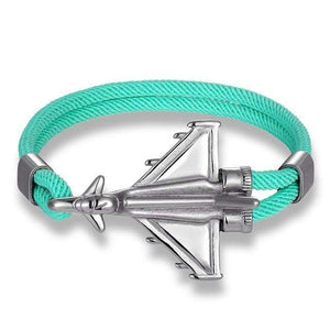 PILOTSX Green D / 21cm Stainless Steel Jet Fighter Bracelets