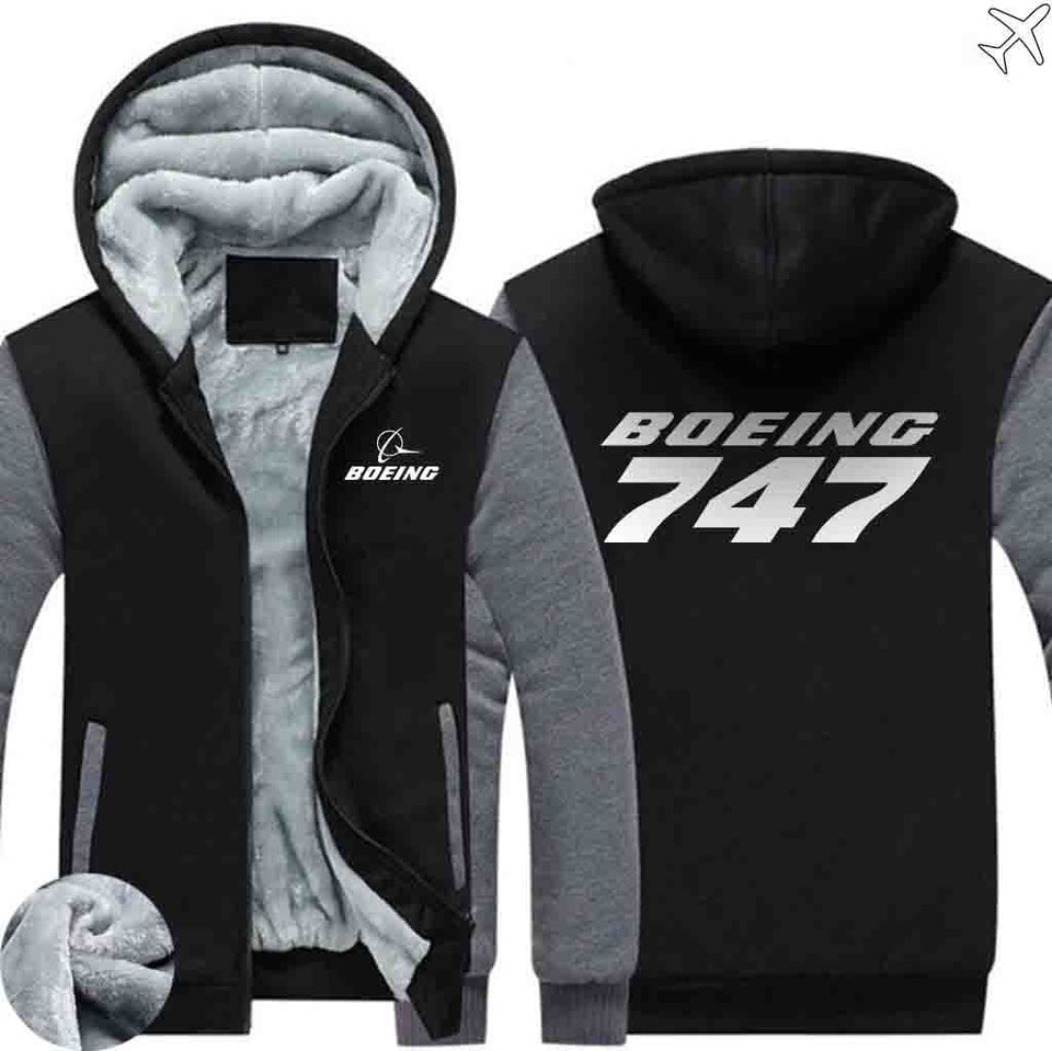 PILOTSX HOODIES Black Gray / S The 747 Zipper Sweaters