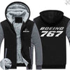 PILOTSX HOODIES Black Gray / S The 767 Zipper Sweaters