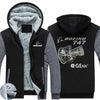 PILOTSX HOODIES Black Gray / S The GEnx B747 Zipper Sweaters