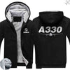 PILOTSX HOODIES Black / S Airbus A330 Zipper Sweaters