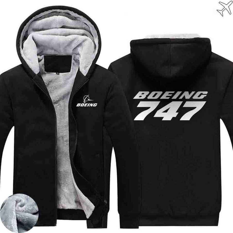 PILOTSX HOODIES Black / S The 747 Zipper Sweaters
