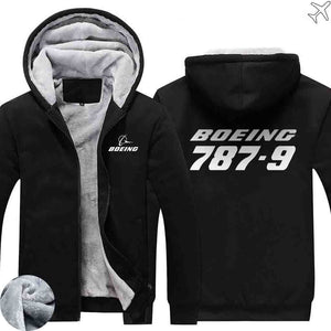 PILOTSX HOODIES Black / S The 787-9 Zipper Sweaters