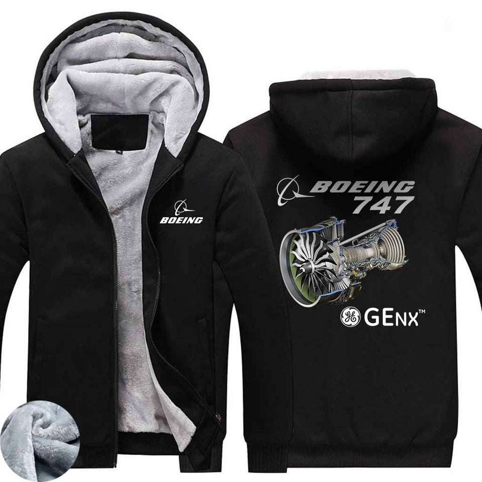 PILOTSX HOODIES Black / S The GEnx B747 Zipper Sweaters