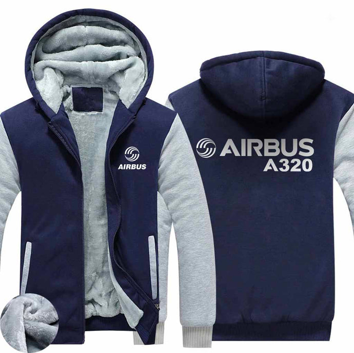 PILOTSX HOODIES Blue / S Airbus A320 Zipper Sweaters