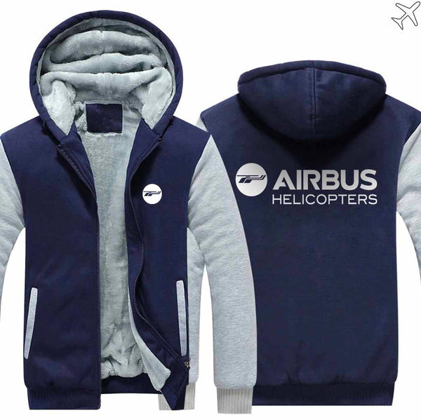 PILOTSX HOODIES Blue / S Airbus Helicopter Zipper Sweaters