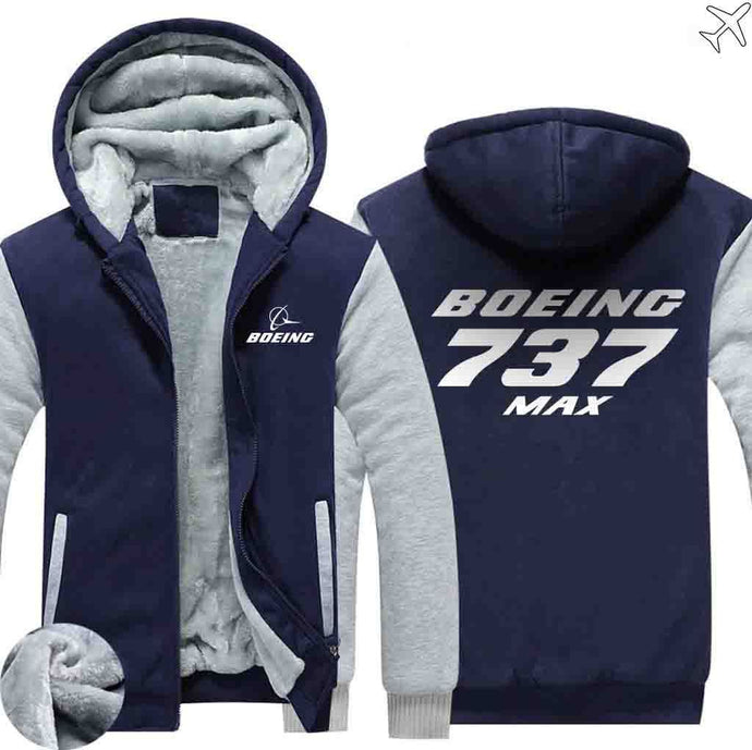 PILOTSX HOODIES Blue / S The 737 MAX Zipper Sweaters
